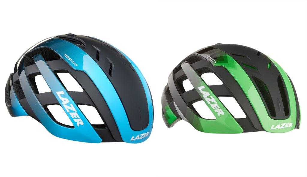 A sinistra il Twistcap in posizione Aero e a destra per una maggiore ventilazione