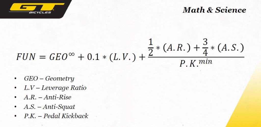 La complessa formula utilizzata dai progettisti GT