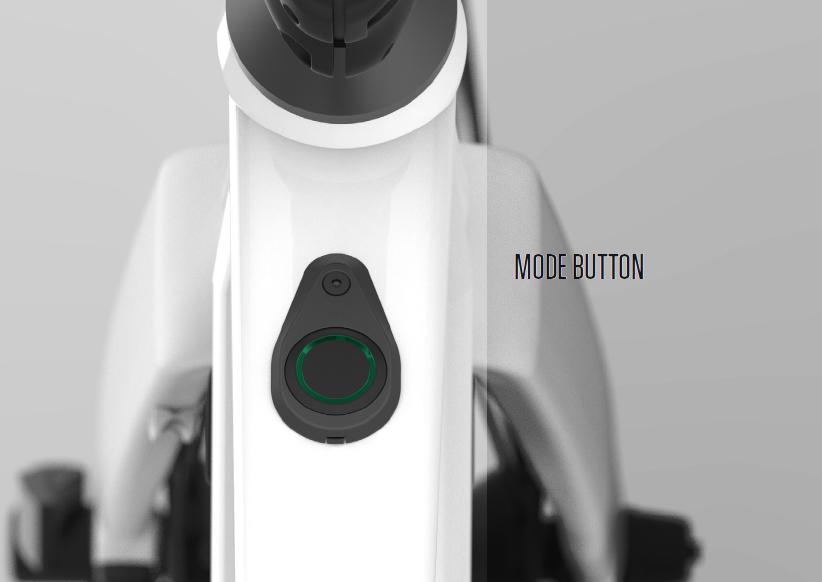 Il bottone Mode per variare l'assistenza