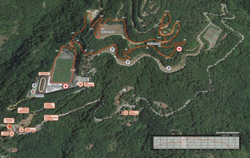 La mappa del percorso per la Coppa Italia Giovanile XCO del Ciocco