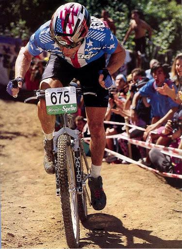John Tomac in azione durante i Mondiali 1991 disputati proprio al Ciocco.