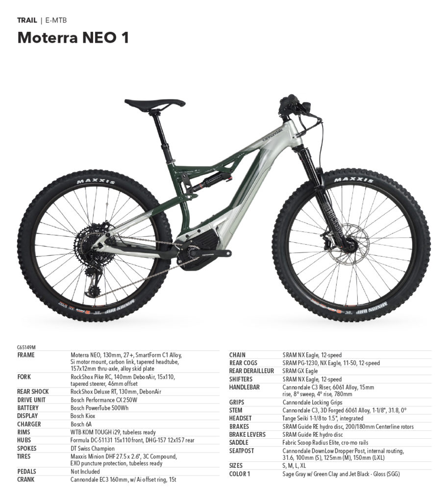 Cannondale Moterra Neo 1 - 5.799,00 €