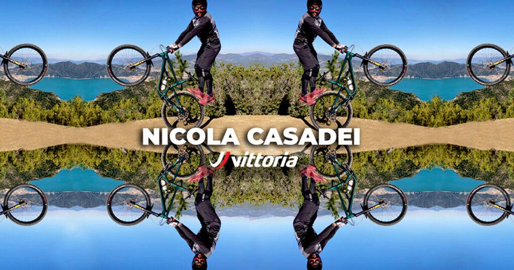 Nicola Casadei con Vittoria