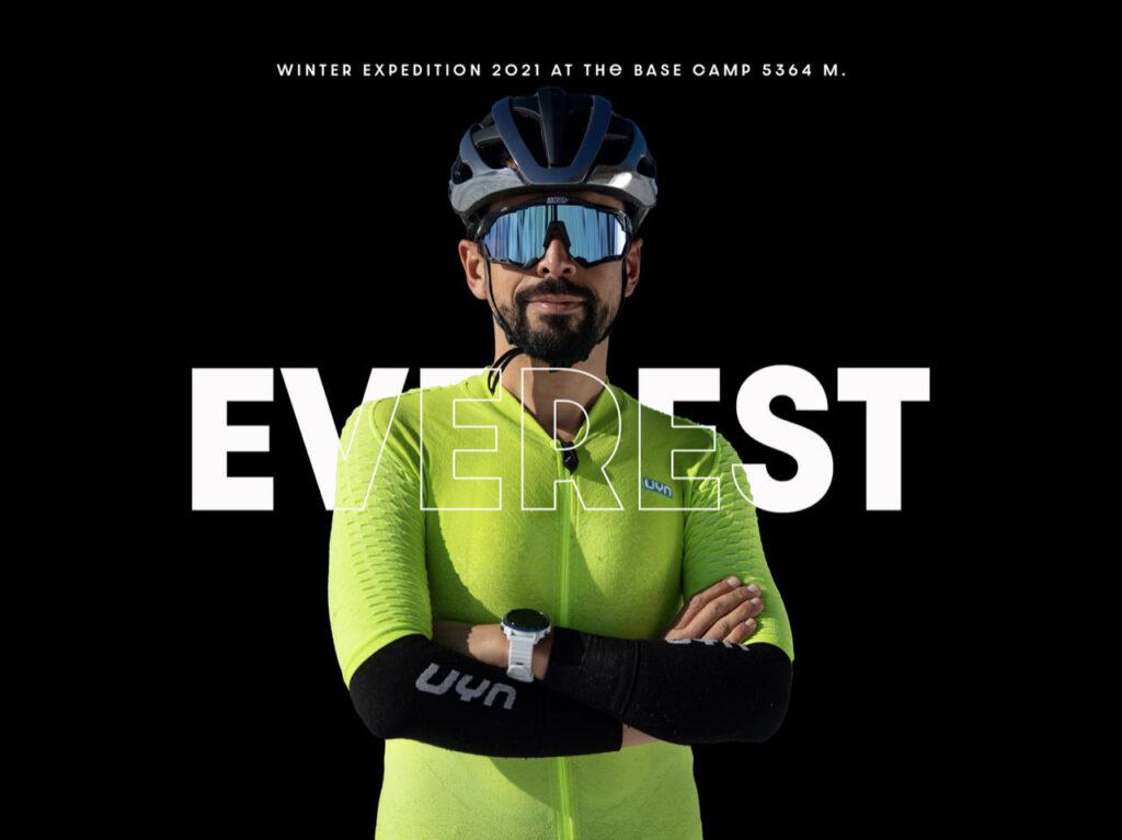 UYN con Omar Di Felice sull'Everest