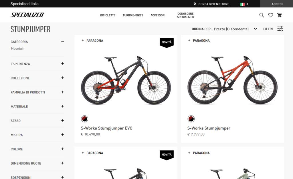 Specialized si acquista online