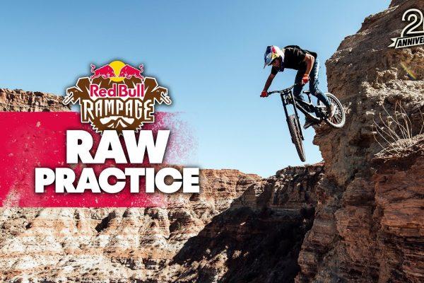 Primi test delle linee alla Red Bull Rampage 2021